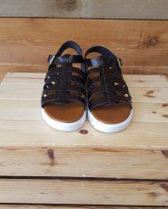 Sandali neri in vera pelle